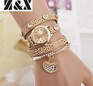 coração de diamante pérola quartzo pulseira relógio analógico das mulheres (cores sortidas)