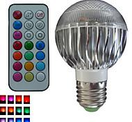 1pcs SchöneColors® E26/E27/GU10 8W 3X3W LED Color-Changing Dimmable/Remote-Controlled/Decorative Bulbs AC85-265V