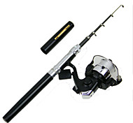 Meiyu ® 1.6m Pocket Pen Carbon Fishing Rod Pole Reel Combos With HIG2000  Reel hook keeper 50m lines lures  HS16