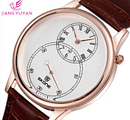 Fashion Casual Watch Second Dial Brand Leather Watches Men's Luxury Quartz Watch Wristwatches