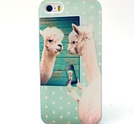 Cute Alpaca Pattern TPU Material Phone Case for iPhone 5C