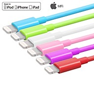 Assorted Colors MFi Certified Lightning 8 Pin Data Sync and Charger USB Cable for iphone6 6plus 5s 5 ipad Cable(100cm)