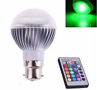 1 pcs ding yao B22 5W 1X SMD 5730 300-600LM RGB Remote-Controlled Globe Bulbs AC 85-265V