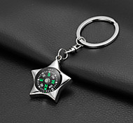 Five-Pointed Star Compass Keychain