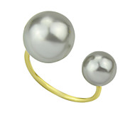 New Coming Cheap Adjustable Double Fake Pearl Ring