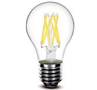 6W E26/E27 Bombillas LED de Globo G60 6 COB 650 lm Blanco Cálido AC 100-240 / AC 110-130 V