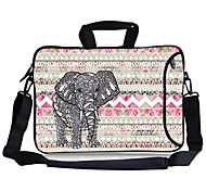 """Elonbo Elephant And Geometric Figure Carrying Handle & Removable Shoulder Strap Laptop Bag for 13"""" Macboob pro HP"""