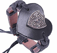 2015 Hearts Are Shield Leather Bracelet