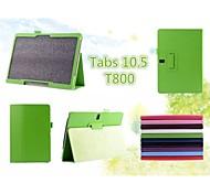 material de fibra súper relieve + pu + TPU importado manga protectora shell material para samsung t800 galaxy tab s