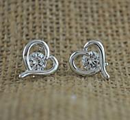 Zircon Fashion Heart-Shaped Earrings