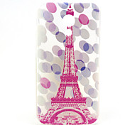 Pink Tower Pattern Ultrathin TPU Soft Back Cover Case for Motorola G2
