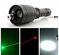 LED Flashlights/Torch / Handheld Flashlights/Torch / Lasers LED / Laser 400 Lumens 1 Mode - 18650 / AAA Adjustable Focus