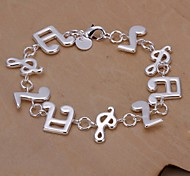 Fashion Note 925 Silver Charm Bracelets  1pc