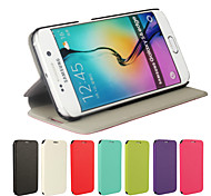 Ultrathin Leather Flip Cover Case for Samsung Galaxy S6 Edge (Assorted Colors)