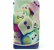 Towel Cake Candy Pattern PU Leather Full Body Case with Stand and Card Holder For Alcatel One Touch POP C9