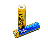 Batería - 2800mAh - mAh - Ni-MH - AA - 2 - pcs -