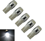 JIAWEN® 5pcs T10 1.5W 90LM 6000-6500K Cool White  Side Maker Lamp LED Car Light (DC 12V)