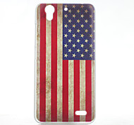 Magic Spider® US Flag Protective Frosted Transparent Back Case with Screen Protector for HUAWEI Ascend G630