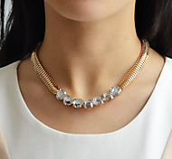 Fashion Style Mix Color Short Rhinestone Necklace Chain