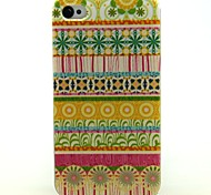 Yellow Flowers Folk Style Pattern Ultrathin TPU Soft Case for iPhone 4/4S
