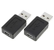 minismile ™ USB A macho a mini usb 5 pines convertidor adaptador hembra (2 piezas)