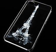 Eiffel Tower Pattern Transparent Back Case for iPhone4/4S