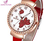 marca famosa flor mulheres de quartzo relógio de moda senhoras vestido ocasional relógio de strass relógio de pulso