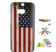 National Flag Pattern PC Material Shell And Touch Pen Dust Plug Bracket Combination for HTC One(M8)