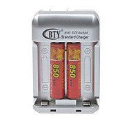 US Plug Battery Charger for AA/AAA Rechargeable Ni-MH Battery (Included 2xAAA)