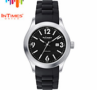 InTimes IT-1068 Men's Steel Wrist Watch Perforated Big Number Japan Quartz Movt 50M Water Proof