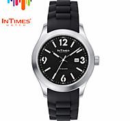 intimes it-1068 Herren-Stahl Armbanduhr perforiert große Anzahl japan Quarz movt 50m wasserdicht