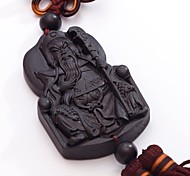 Duo Ji Mi ® Dah Guan Gong Ebony Chinese Knot Car Pendant Hanging Decorations