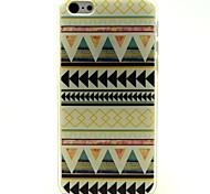 Light Yellow Folk Style Pattern Ultrathin TPU Soft Case for iPhone 5C