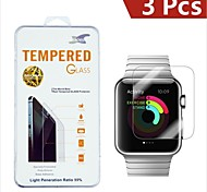 0.3mm 9H Damage Protection Tempered Glass Screen Protector for Apple Watch 42mm (3PCS)
