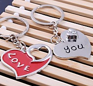 Unisex Alloy Casual Keychain Heart Shaped Valentine's Day Key Chains 1 Pair