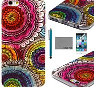 COCO FUN® Floral Tribal Pattern Soft TPU Back Case Cover with Screen Protector and Stylus for iPhone 6