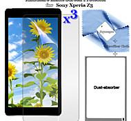 3pcs antideslumbrante prima y pantalla lcd anti-huella digital flim protector con juego de paño de limpieza para z3 xperia sony