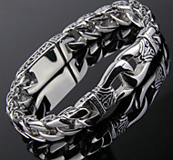 Toonykelly® Vintage 22CM Men's Stainless Steel Silver Bracelet(Silver)(1PC) Jewelry