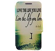 For Huawei Case / P8 / P8 Lite Flip Case Full Body Case Word / Phrase Hard PU Leather HuaweiHuawei P8 / Huawei P8 Lite / Huawei P7 /