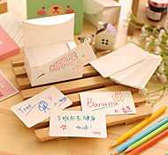 White Cute/Business/Multifunction Kraft Paper Card Notepads (100 Pages)