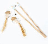 Wooden Stick with Bell Interactive Toy for Cats
