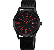 Brand Mens Quartz Watch Generous Simple with Large Calendar Number Display Fashion Watches
