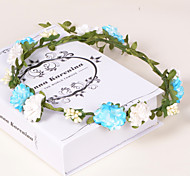 Countryside Paper/Plastic Wreaths With Wedding/Party Headpiece