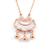 Classic Longevity Lock 316L Stainless Steel 14K Gold Plated Pendant Necklace