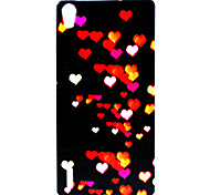 Love Pattern TPU Soft Cover for  Huawei P7