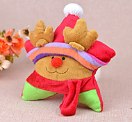 Plush Squeak Christmas Star Chew Toy for Dogs Cats