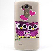 The Family of Owl  Pattern Ultrathin TPU Soft Back Cover Case for LG G3