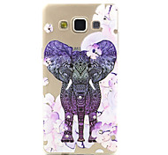 Pink Flowers Elephant Pattern TPU Relief Back Cover Case for Samsung Galaxy A5