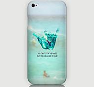 dedo padrão de volta caso para iPhone5 / 5s