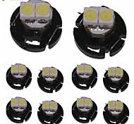 10 x T4.2 2LED 3528smd luz blanca fría para la bombilla salpicadero de un coche (DC12-16V)